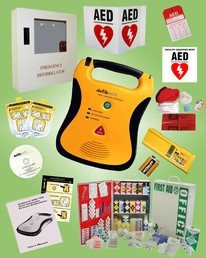 Defibtech Lifeline AED Business Package with CPR supplies